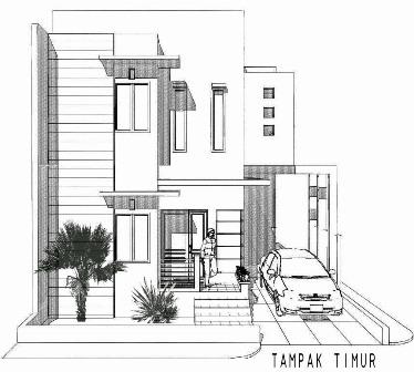 output akhir penyajian desain rumah tinggal